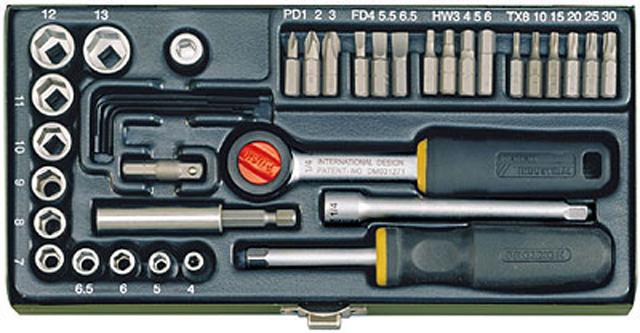 PROXXON №23070 Набор из 36 отверточных бит и головок с намагниченным переходником