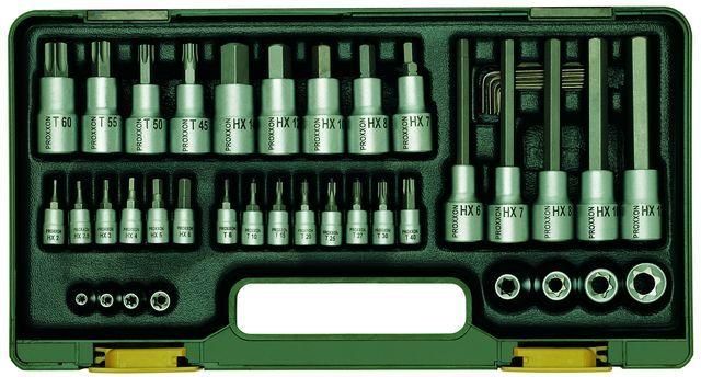 PROXXON №23290 Специальный набор инструмента для звездообразных ТХ и шестигранных винтов