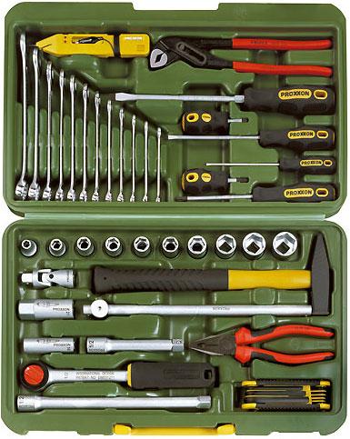 PROXXON №23650 Автомобильный и универсальный набор инструмента